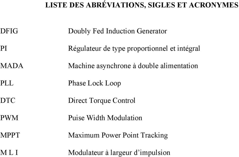 Machine asynchrone à double alimentation Phase Lock Loop Direct Torque Control
