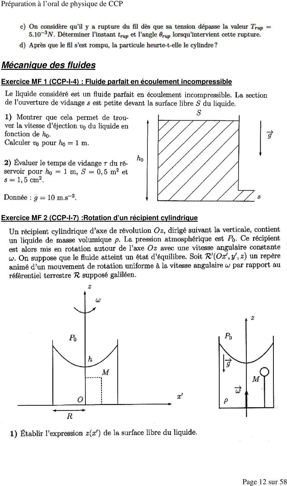 incompressible Exercice MF 2 (CCP-I-7)