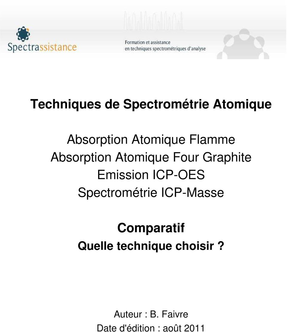 Emission ICP-OES Spectrométrie ICP-Masse Comparatif