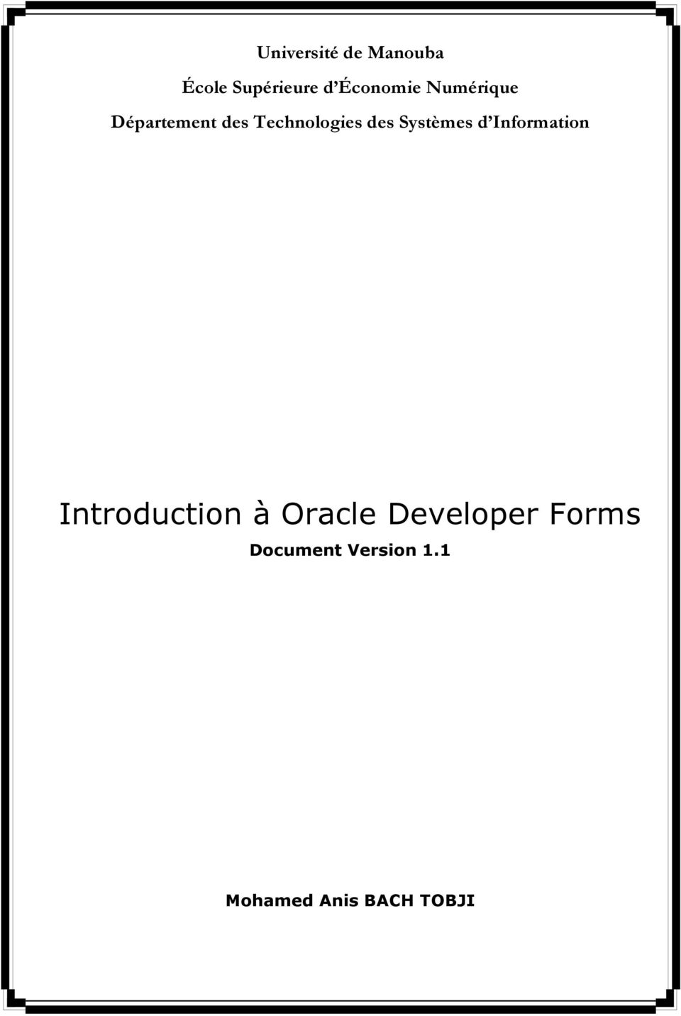 Systèmes d Information Introduction à Oracle
