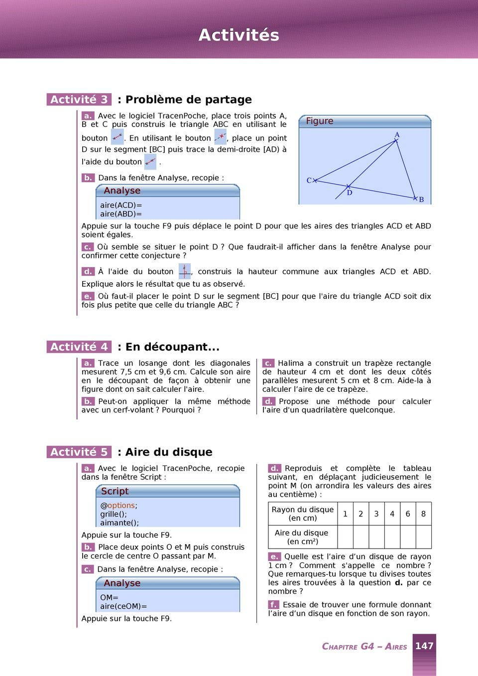 Activit 1 du rectangle au parall logramme pdf for A quelle hauteur fixer un tableau