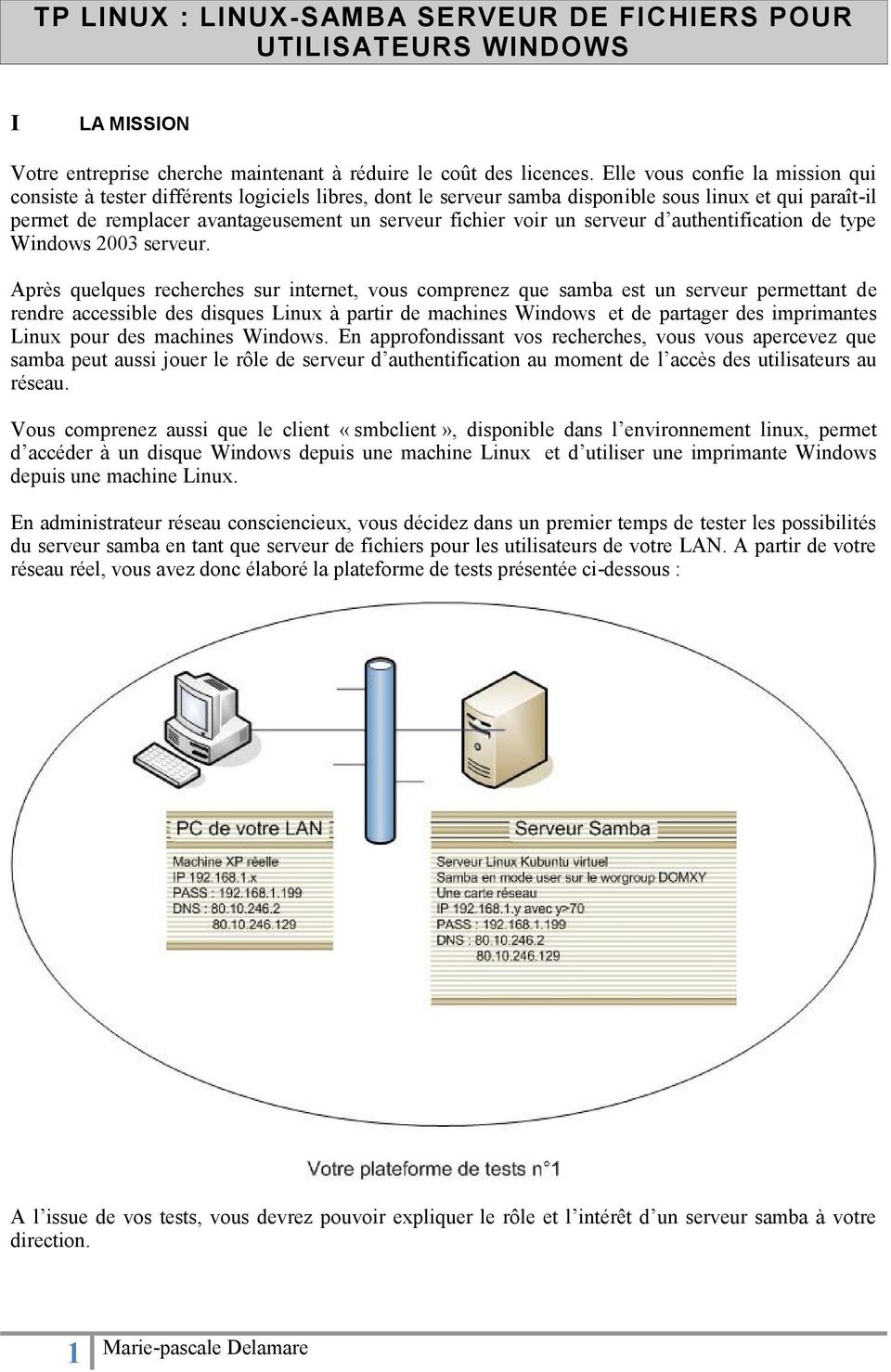 un serveur d authentification de type Windows 2003 serveur.
