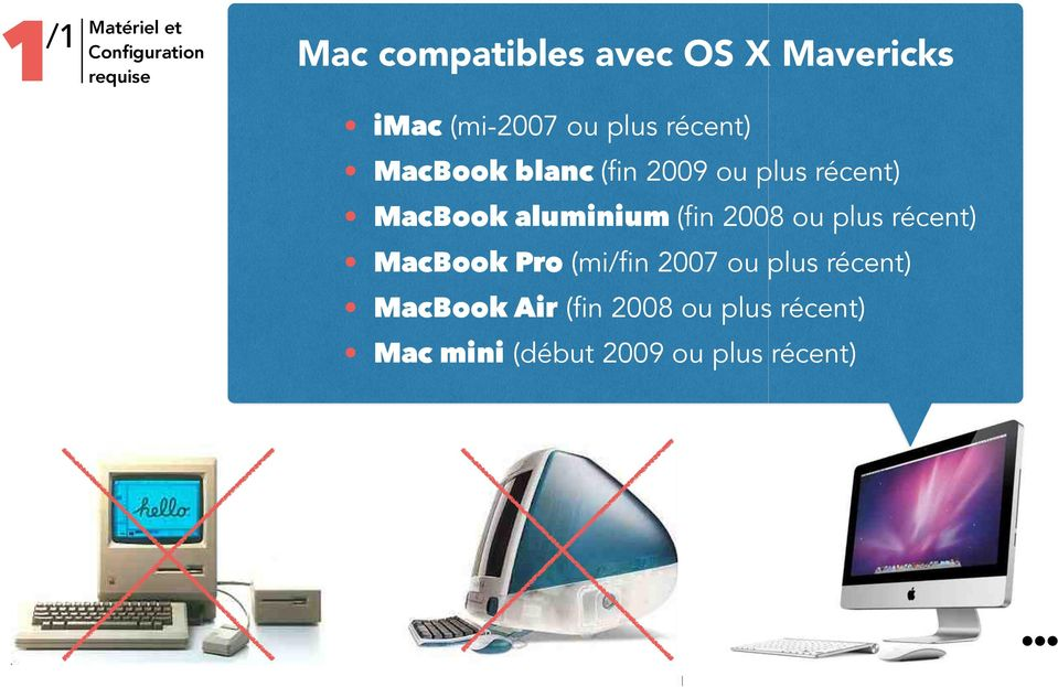 MacBook aluminium (fin 2008 ou plus récent) MacBook Pro (mi/fin 2007 ou