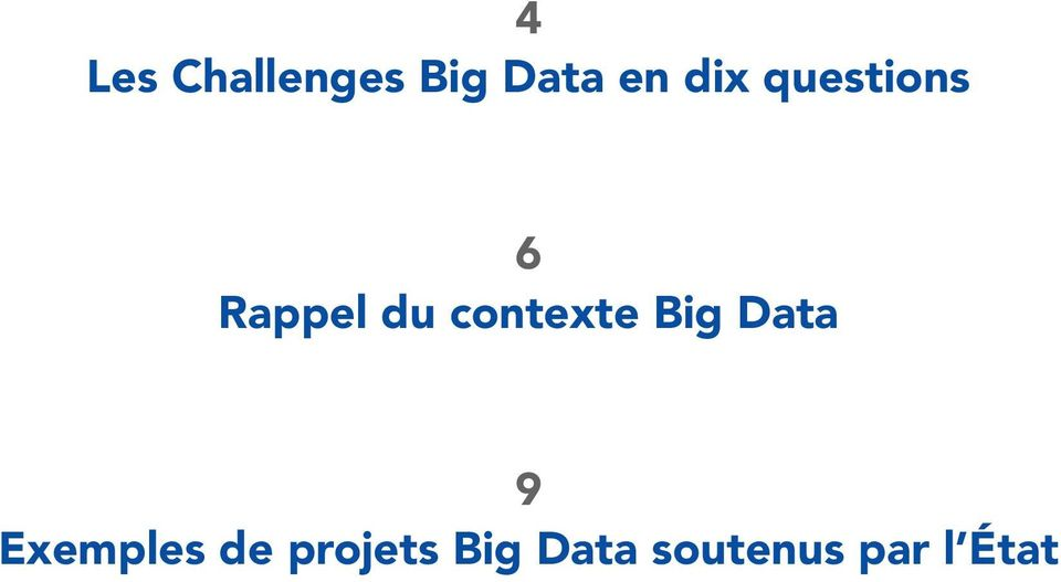 contexte Big Data 9 Exemples