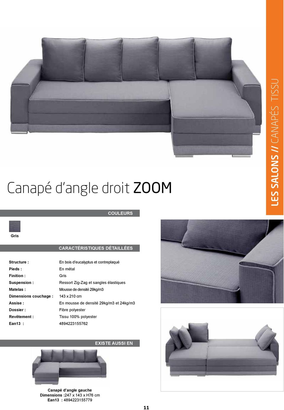 Collection mobilier 2012 pdf - Mousse assise canape ...