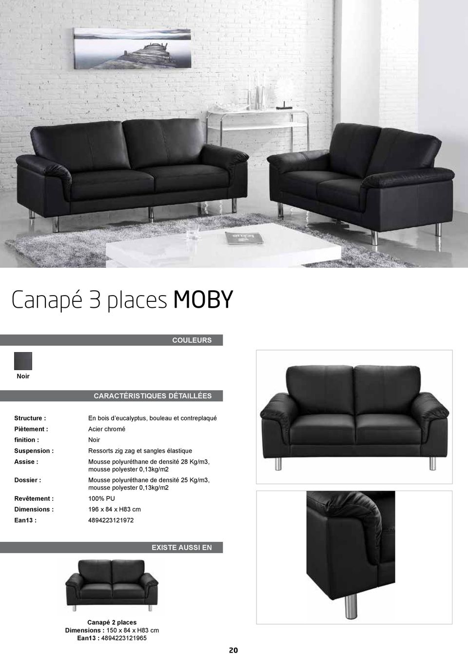 Collection mobilier 2012 pdf for Mousse polyurethane canape