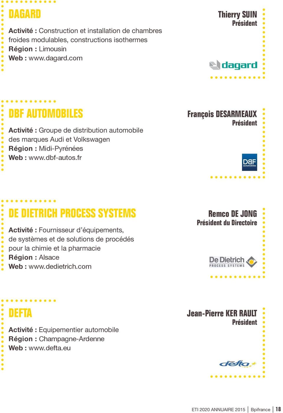 Eti 2020 annuaire 2015 bpifrance 2 pdf for Construction chambre froide pdf