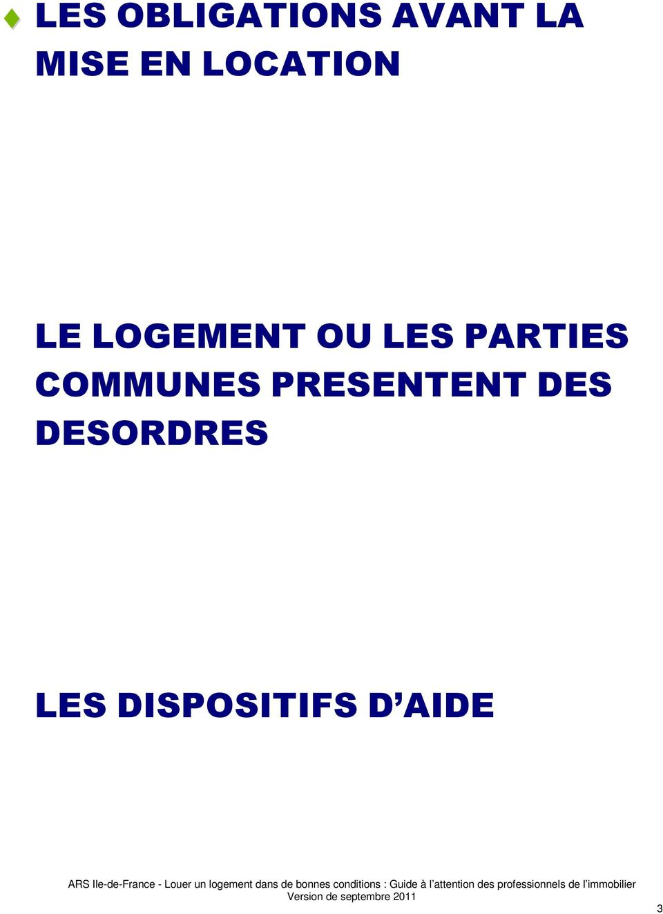 PARTIES COMMUNES PRESENTENT DES