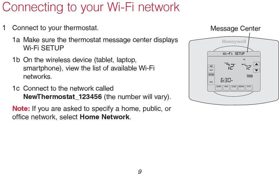 smartphone), view the list of available Wi-Fi networks.