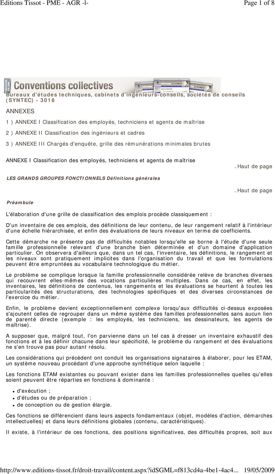 Convention collective syntec annexes accords et avenants pdf - Grille de classification syntec ...