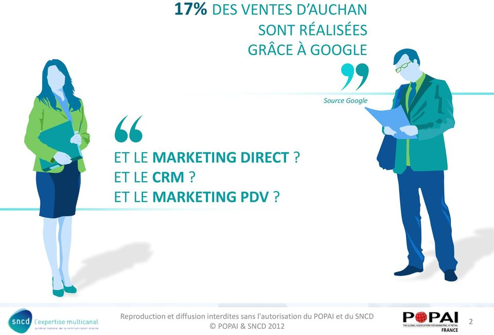 Google ET LE MARKETING DIRECT?