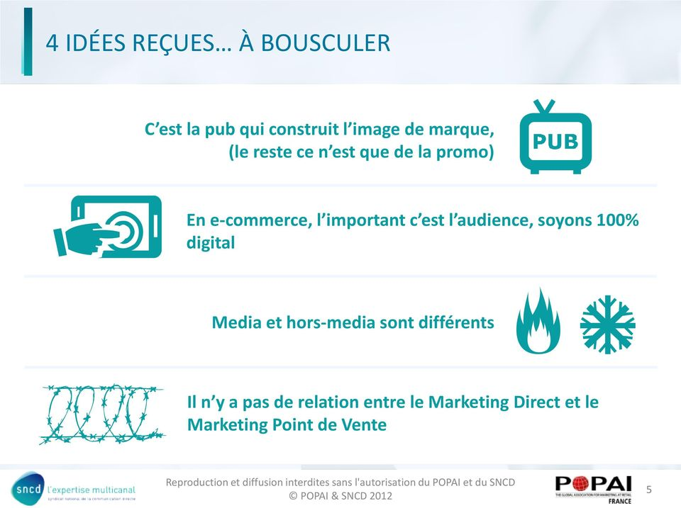 audience, soyons 100% digital Media et hors-media sont différents Il n y