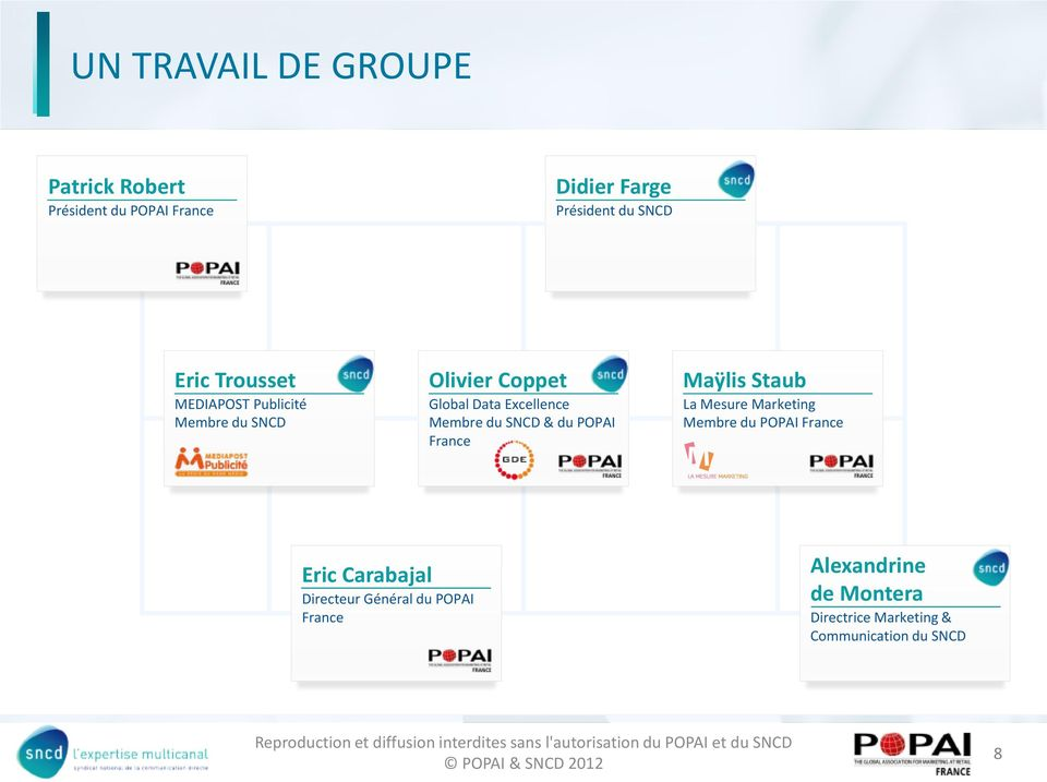 SNCD & du POPAI France Maÿlis Staub La Mesure Marketing Membre du POPAI France Eric Carabajal
