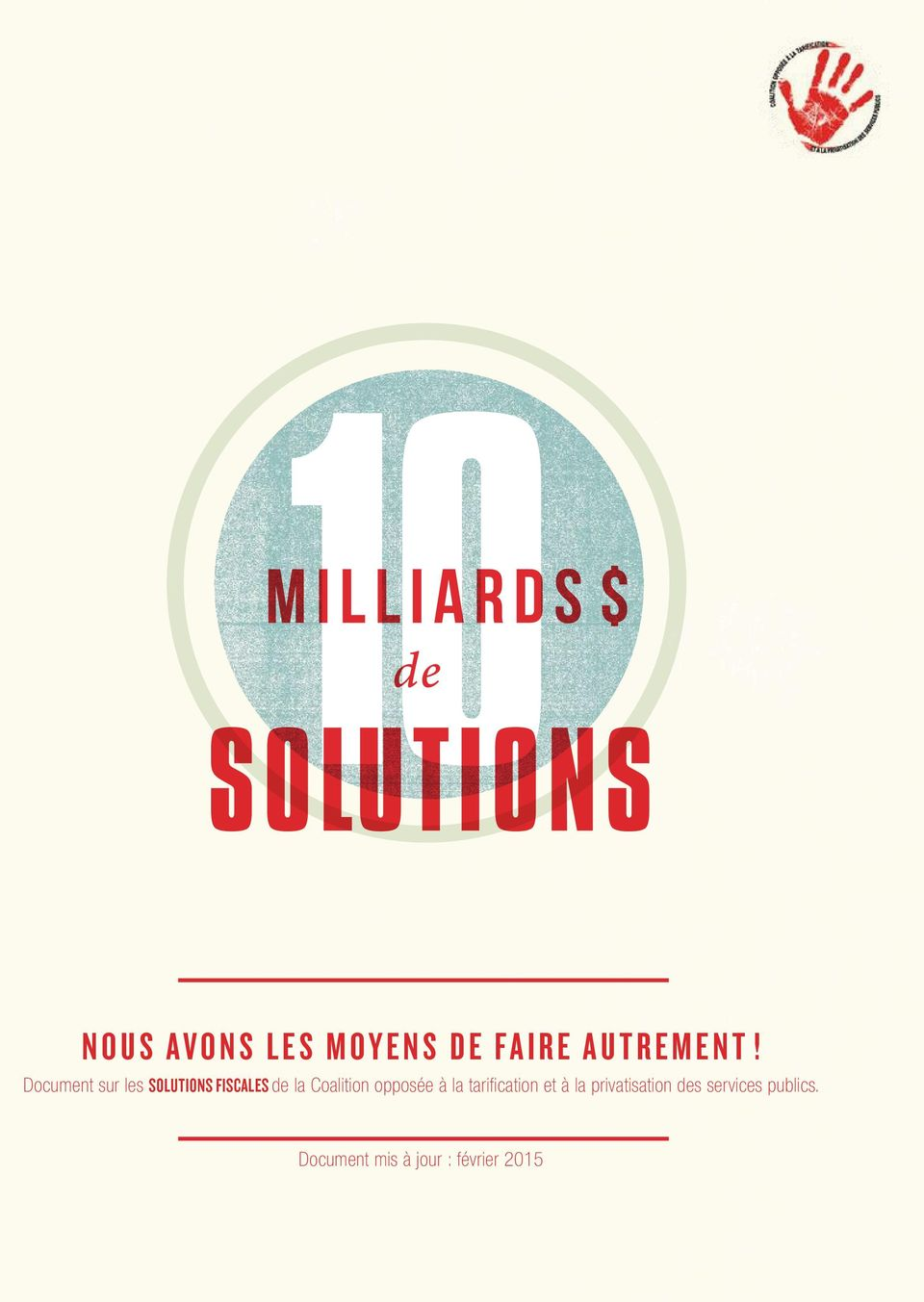 Document sur les solutions fiscales de la Coalition