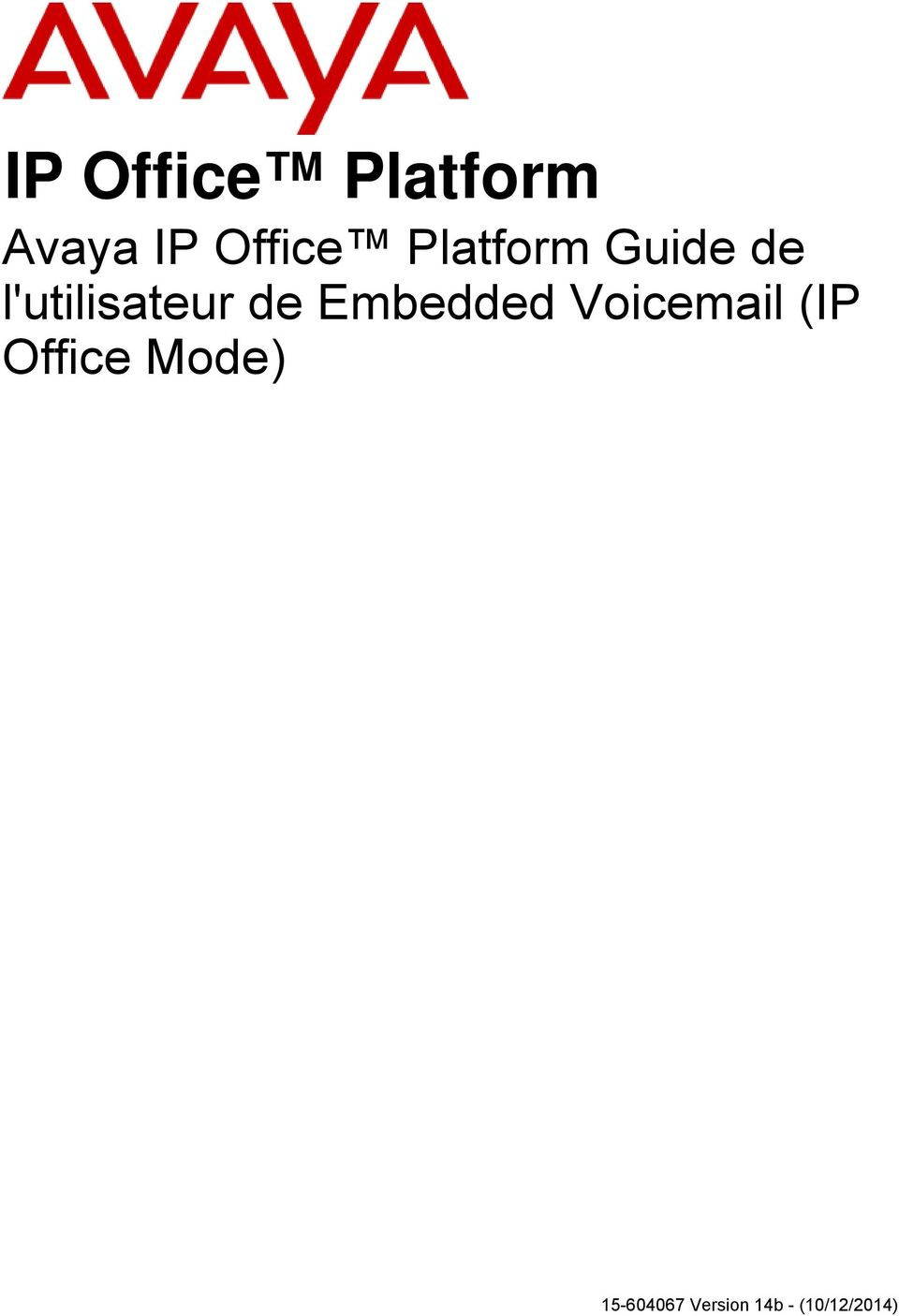 Voicemail (IP Office
