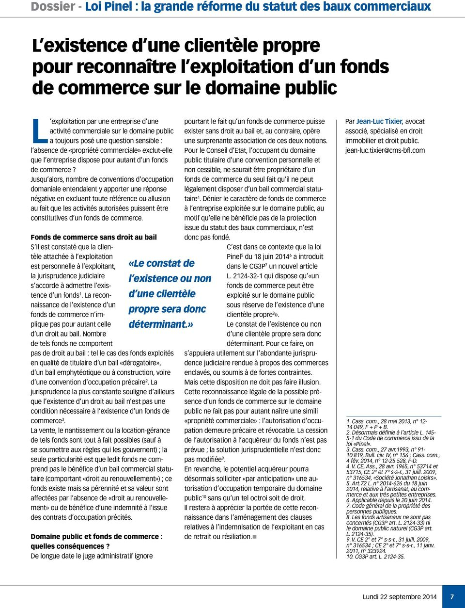 fonds de commerce?