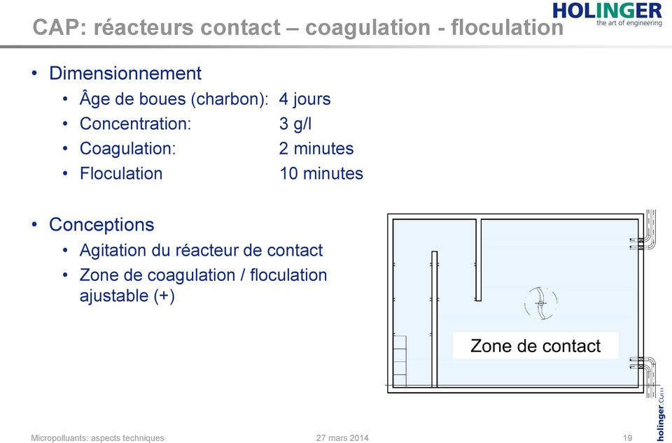 Coagulation: 2 minutes Floculation 10 minutes Conceptions