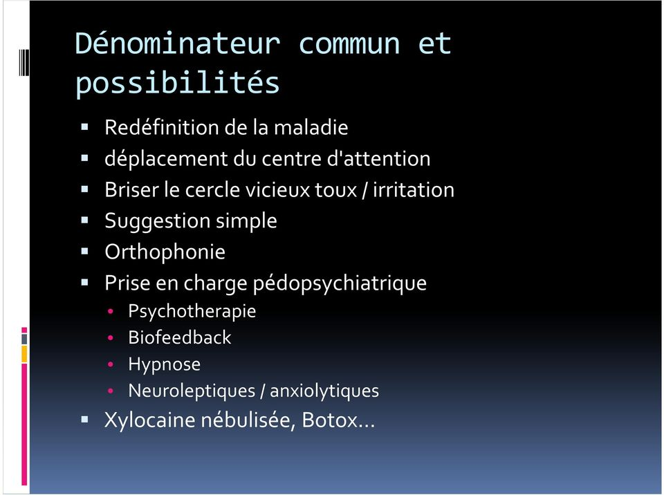 irritation Suggestion simple Orthophonie Prise en charge