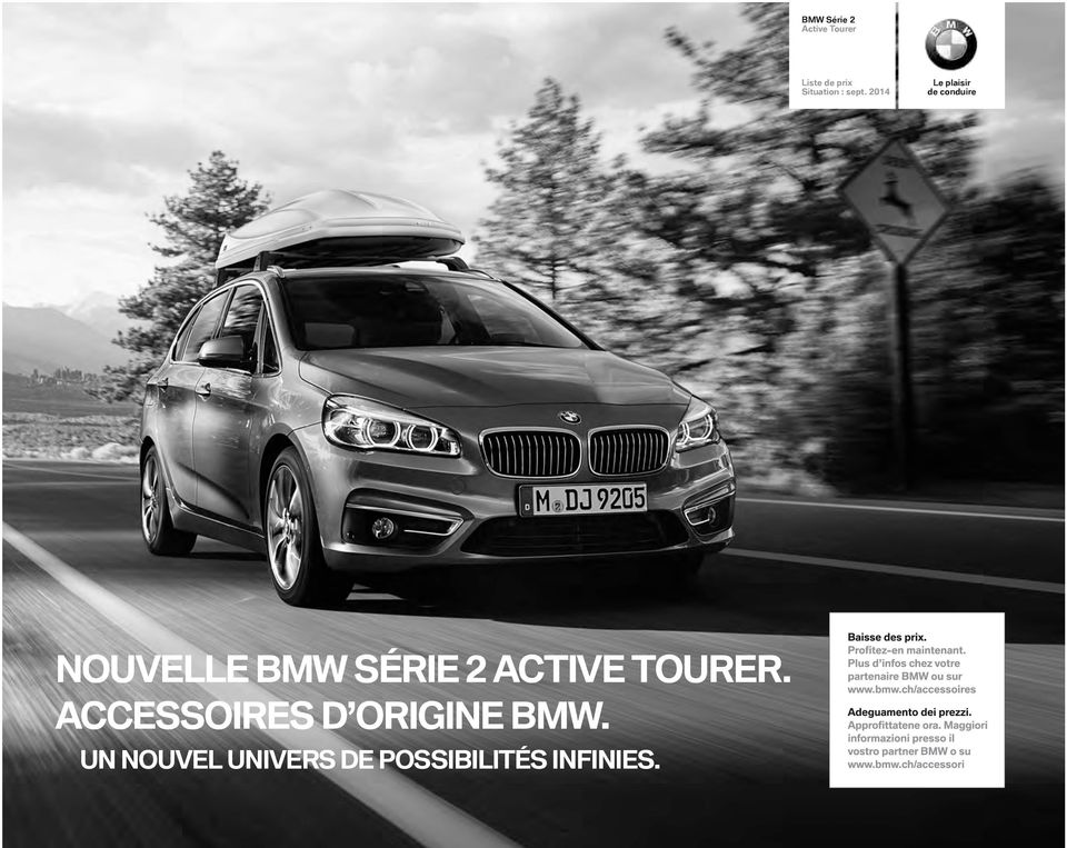 nouvelle bmw s rie 2 active tourer accessoires d origine bmw pdf. Black Bedroom Furniture Sets. Home Design Ideas