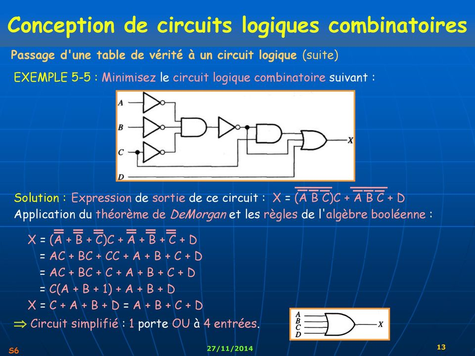 Lectronique num rique pdf for Les circuit combinatoire