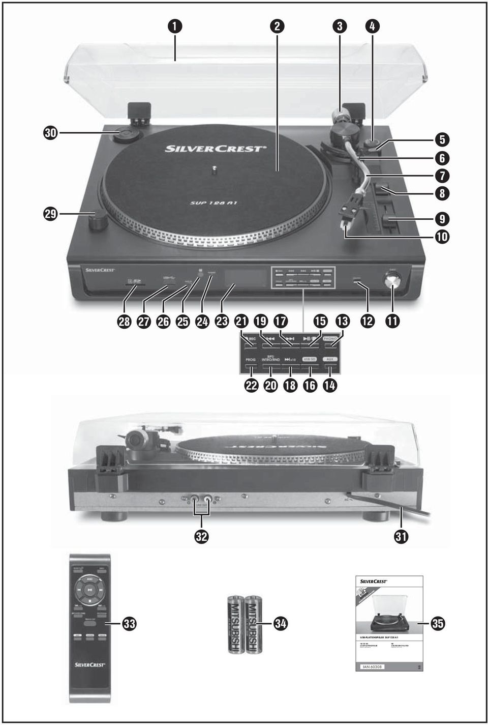 USB RECORD PLAYER Operating