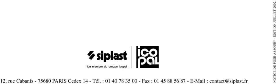 56 87 - E-Mail : contact@siplast.