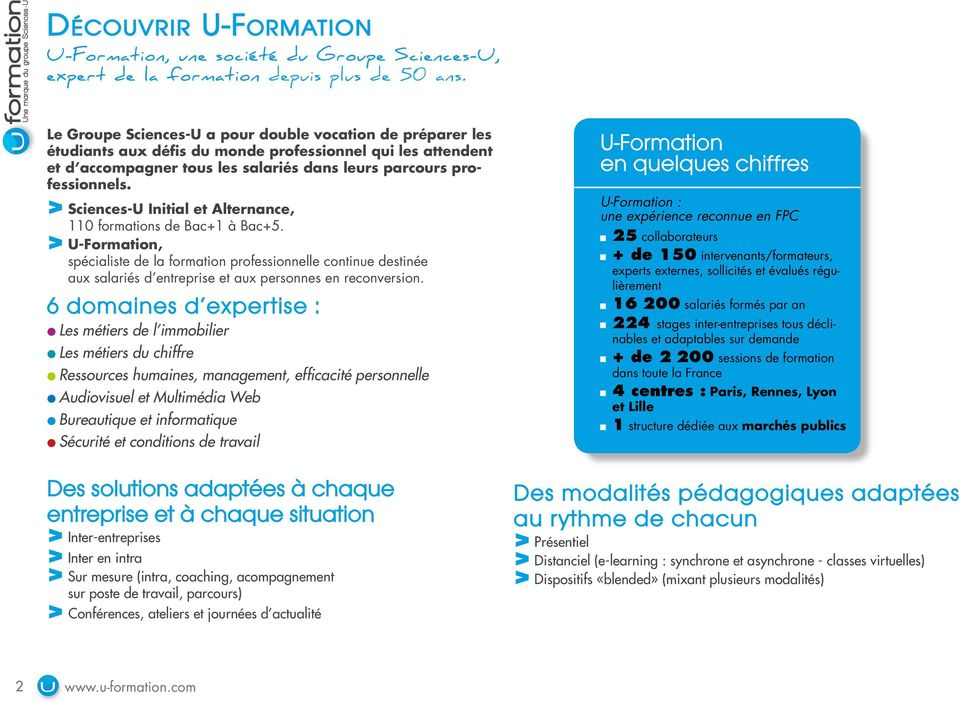 > Sciences-U Initial et Alternance, 110 formations de Bac+1 à Bac+5.