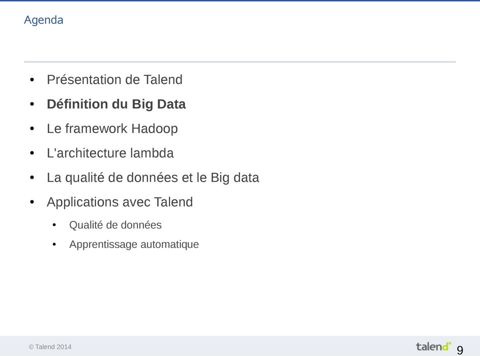 qualité de données et le Big data Applications
