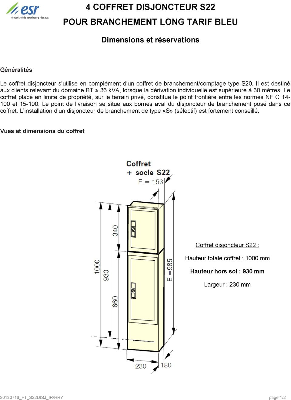 cahier des charges pour encastrement de coffrets de. Black Bedroom Furniture Sets. Home Design Ideas