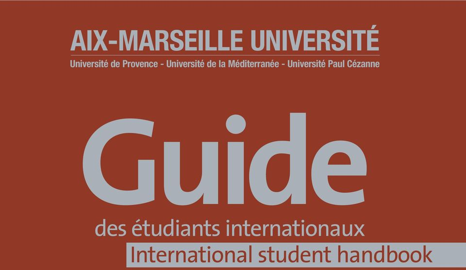 Université Paul Cézanne Guide des