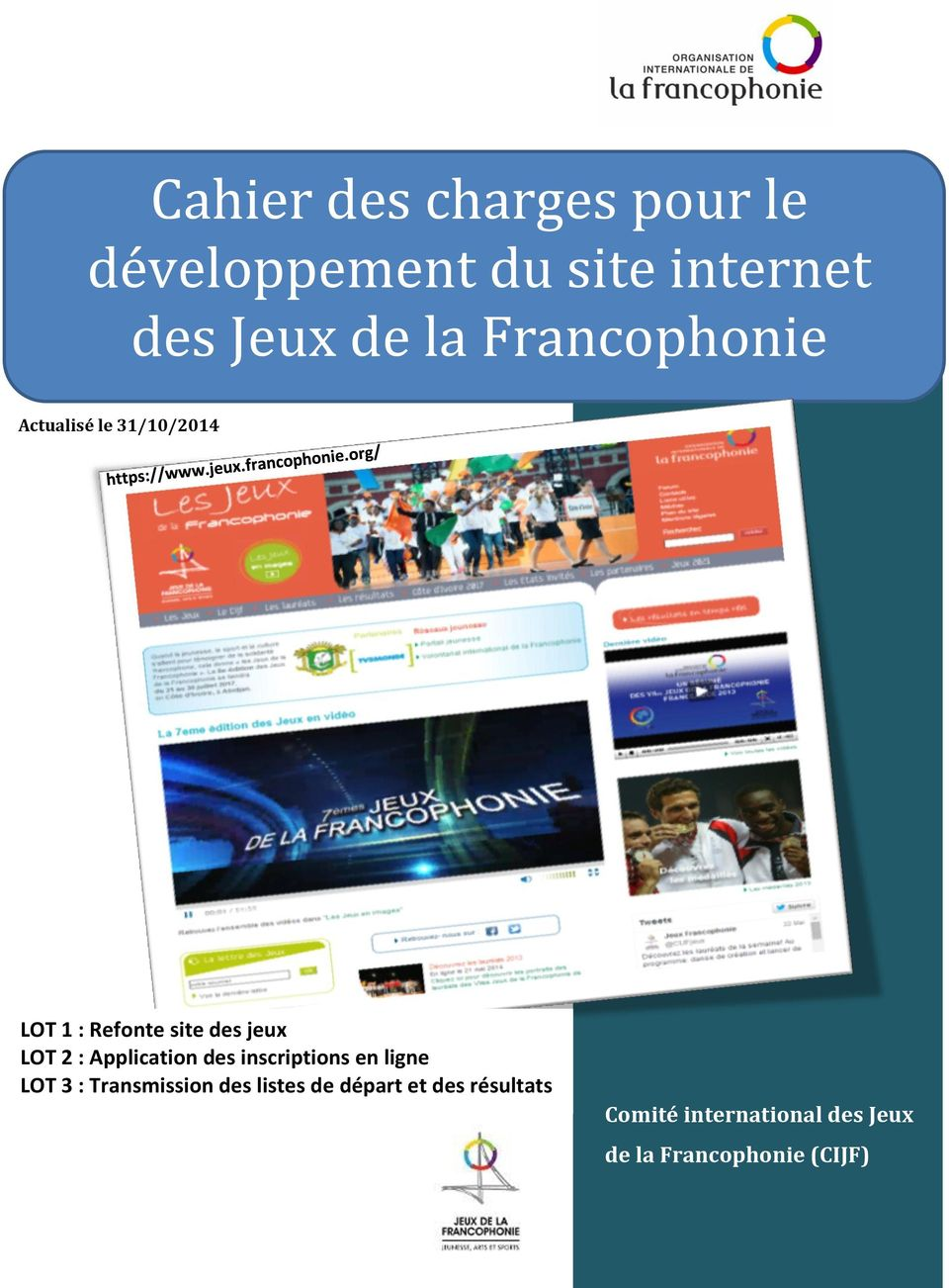 Application des inscriptions en ligne LOT 3 : Transmission des listes de