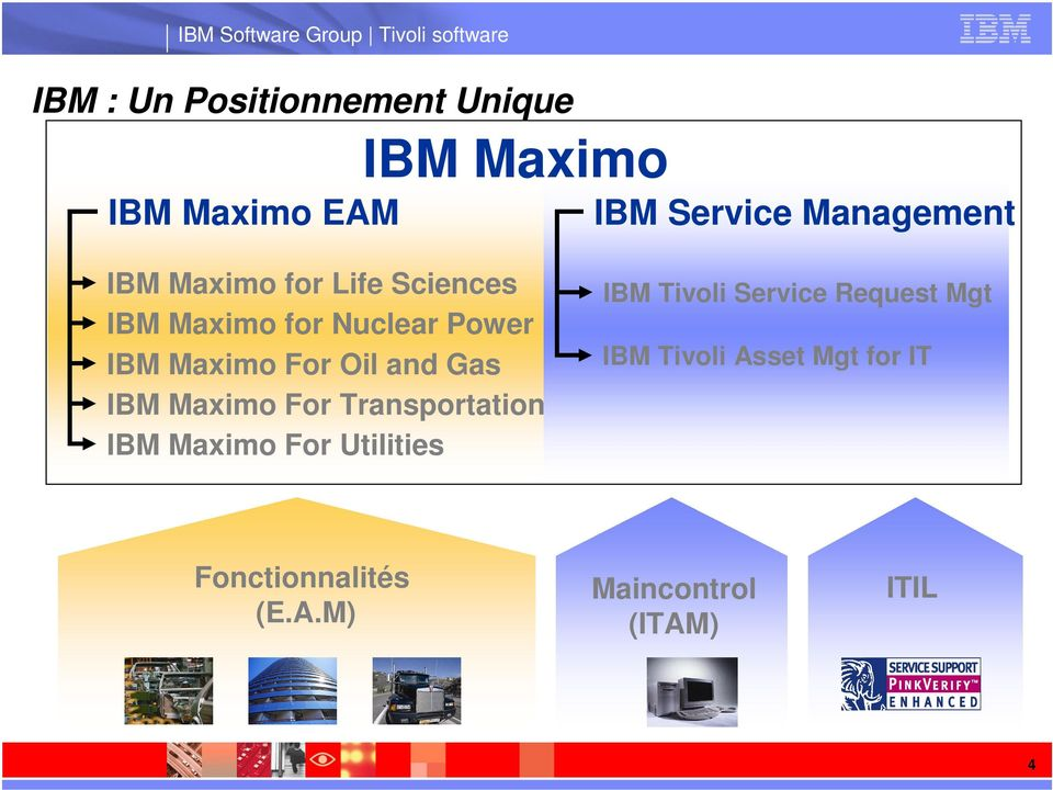 Gas IBM Maximo For Transportation IBM Maximo For Utilities IBM Tivoli Service