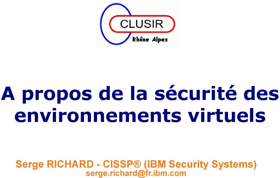 RICHARD - CISSP (IBM Security