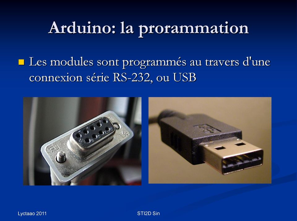 programmés au travers
