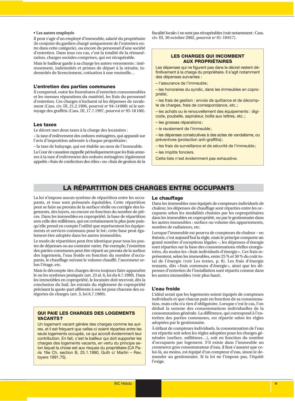 Les charges locatives pdf - Repartition charges locatives ...