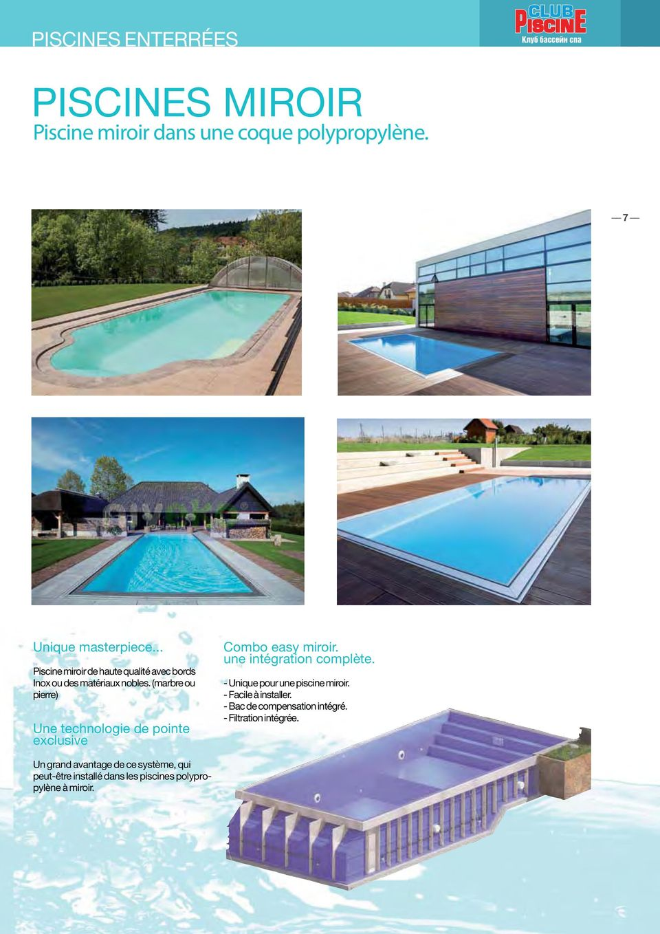 1 pdf for Piscine miroir filtration