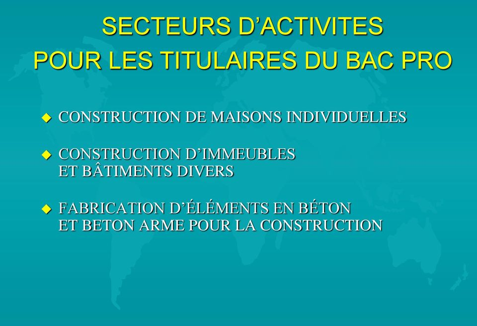 CONSTRUCTION D IMMEUBLES ET BÂTIMENTS DIVERS