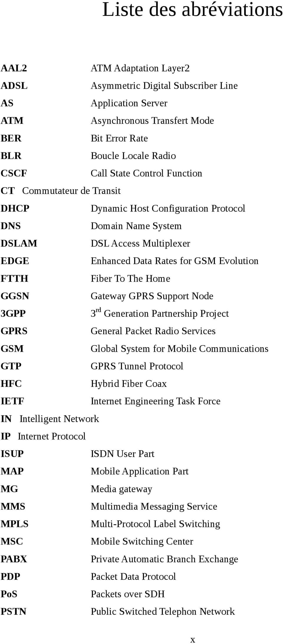 The Home GGSN Gateway GPRS Support Node 3GPP 3rd Generation Partnership Project GPRS General Packet Radio Services GSM Global System for Mobile Communications GTP GPRS Tunnel Protocol HFC Hybrid