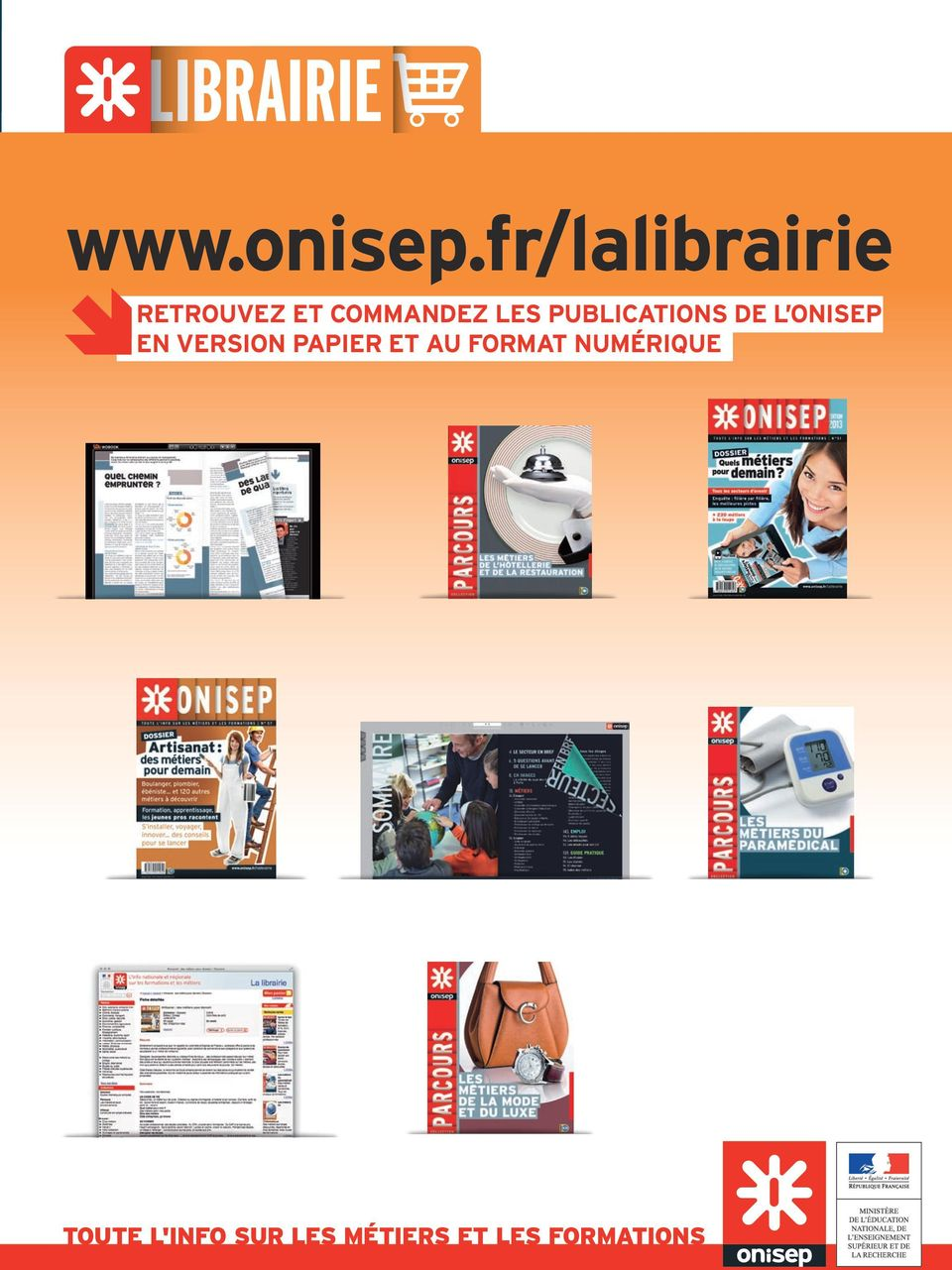 PUBLICATIONS DE L ONISEP EN VERSION PAPIER