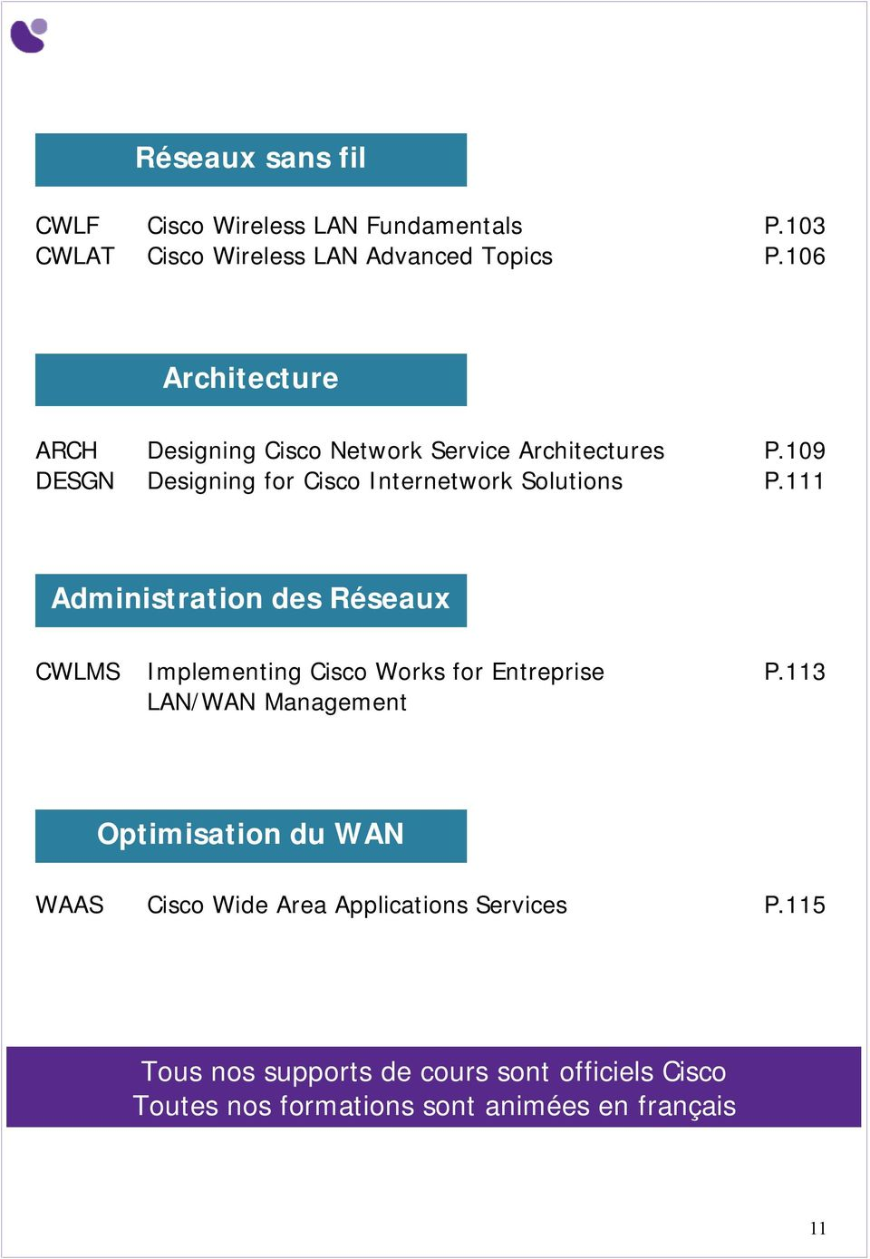 109 DESGN Designing for Cisco Internetwork Solutions P.