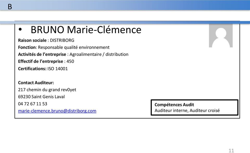 entreprise : 450 Certifications: ISO 14001 217 chemin du grand rev0yet 69230 Saint