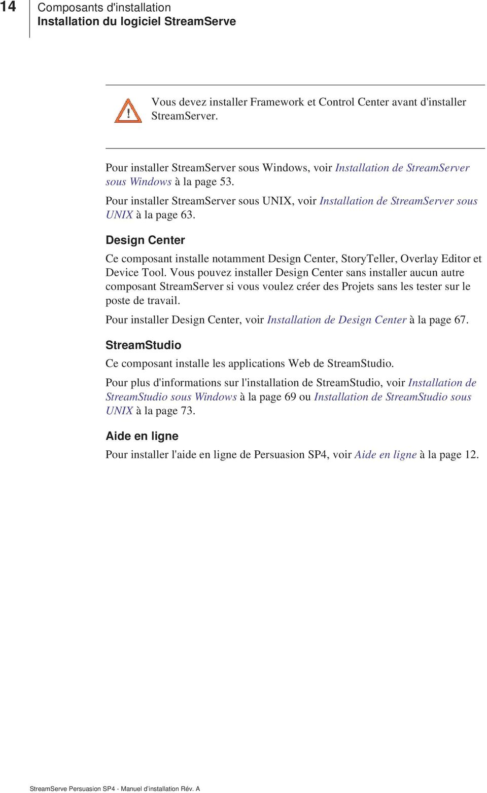 Design Center Ce composant installe notamment Design Center, StoryTeller, Overlay Editor et Device Tool.