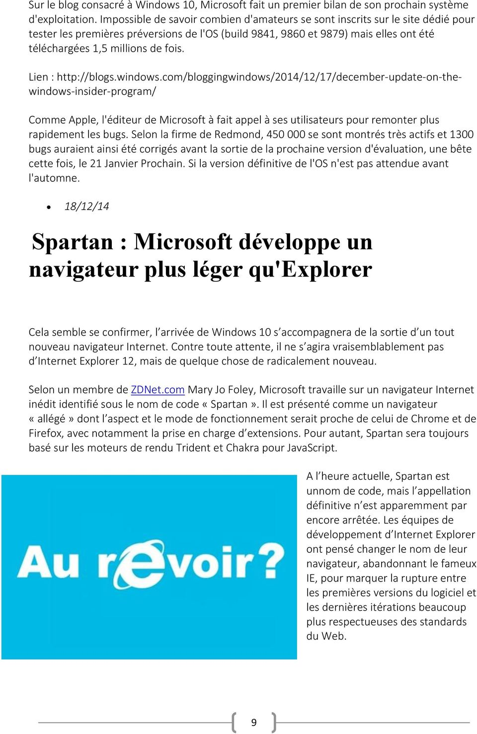 fois. Lien : http://blogs.windows.