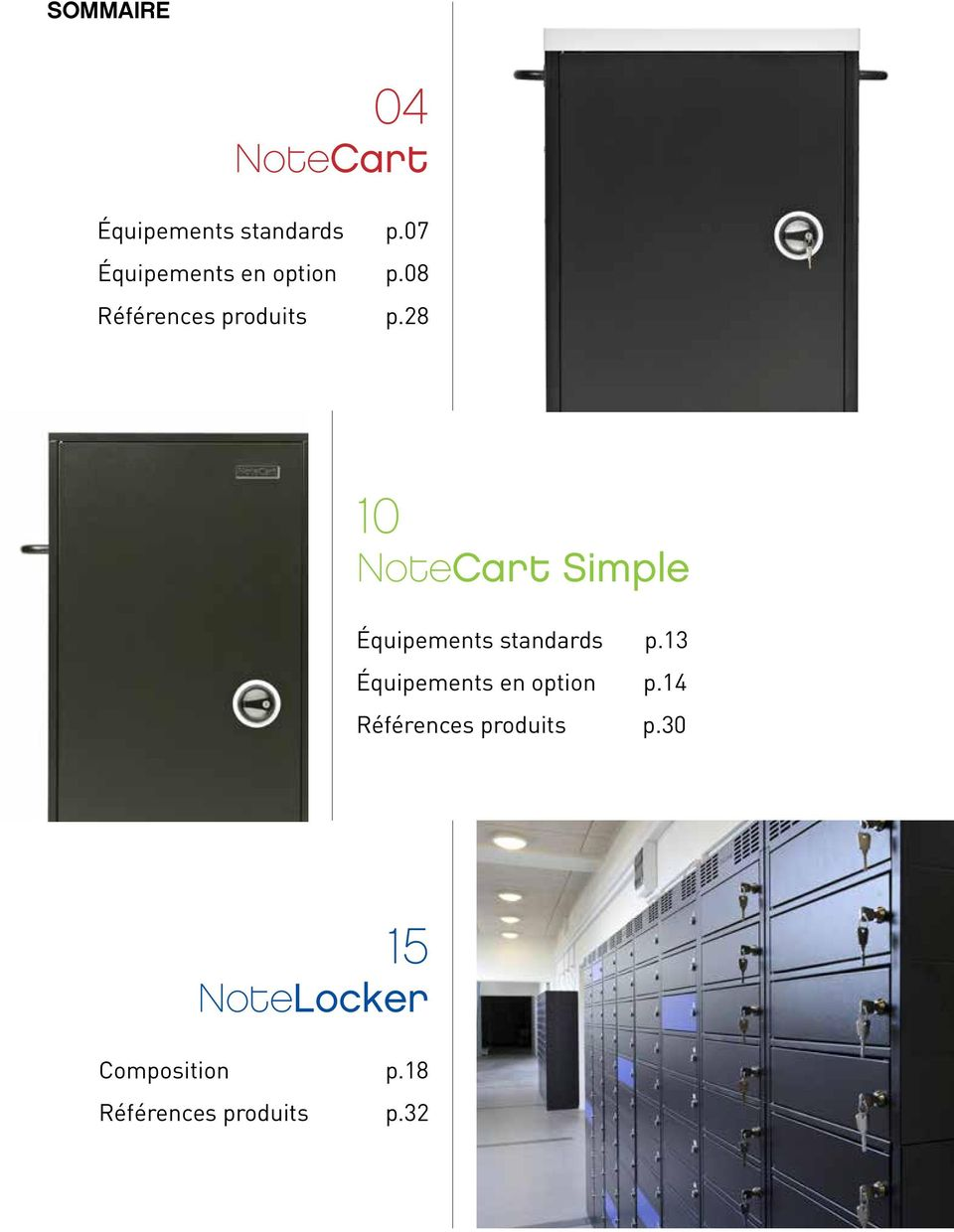 28 10 NoteCart Simple Équipements standards p.