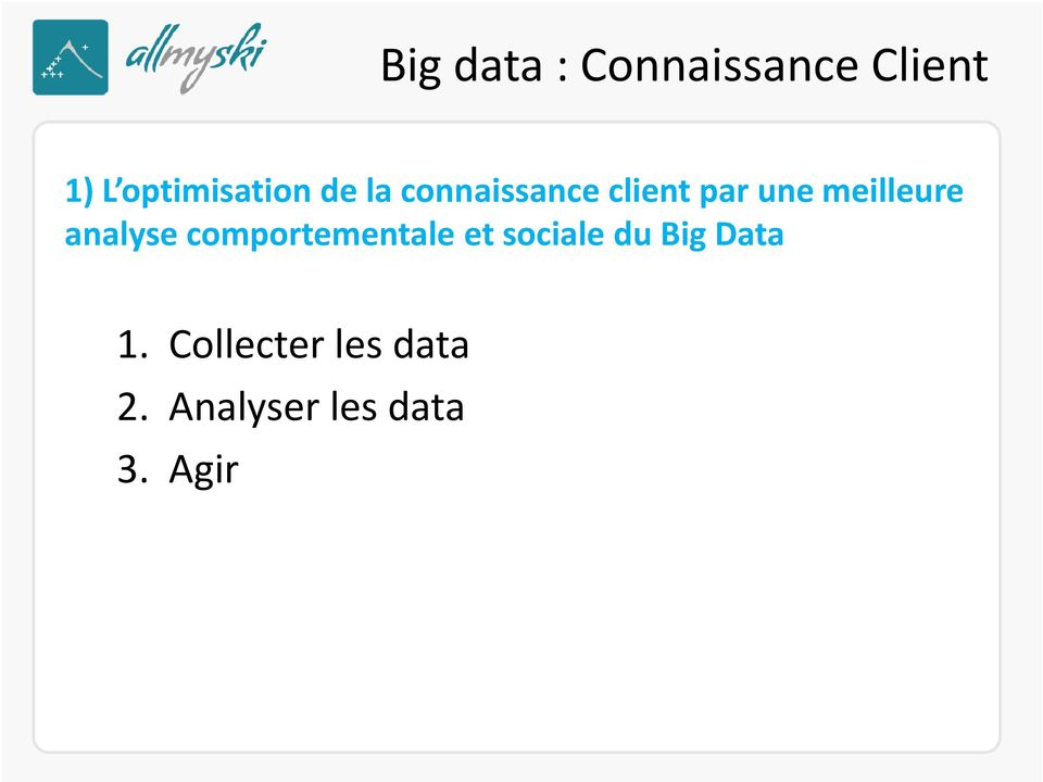 analyse comportementale et sociale du Big Data