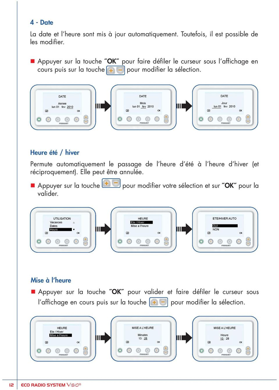 Eco radio system visio frisquet image with eco radio for Frisquet prestige eco radio system