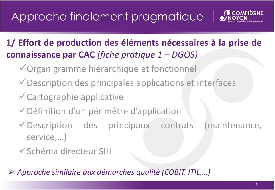applications et interfaces Cartographie applicative Définition d un périmètre d application Description des