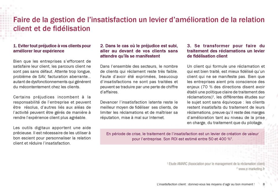 cas mauvaise comprehension besoin client