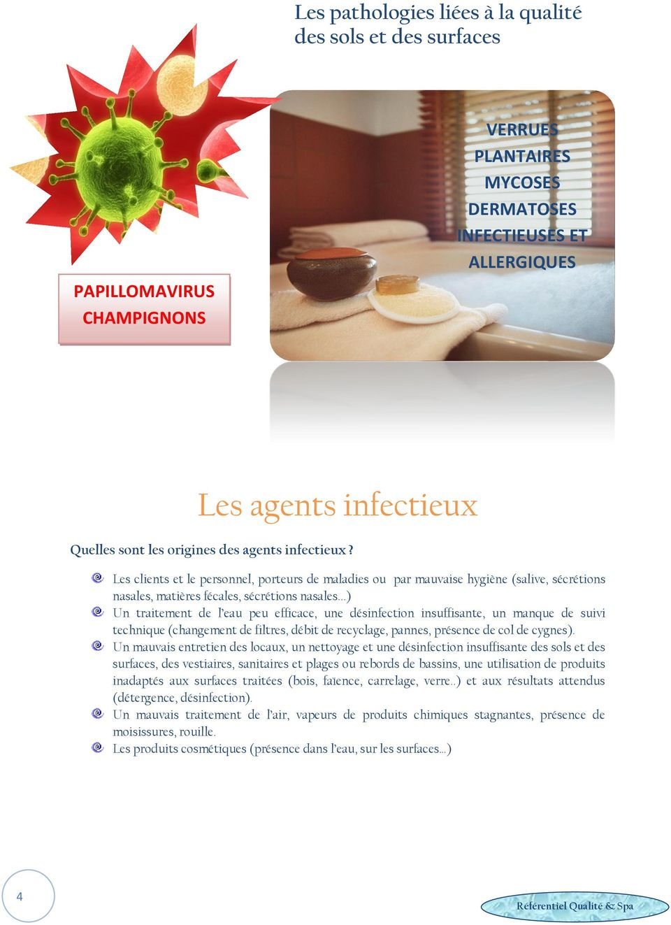 hygiene spa les risques de contamination r f rentiel qualit spa pdf. Black Bedroom Furniture Sets. Home Design Ideas