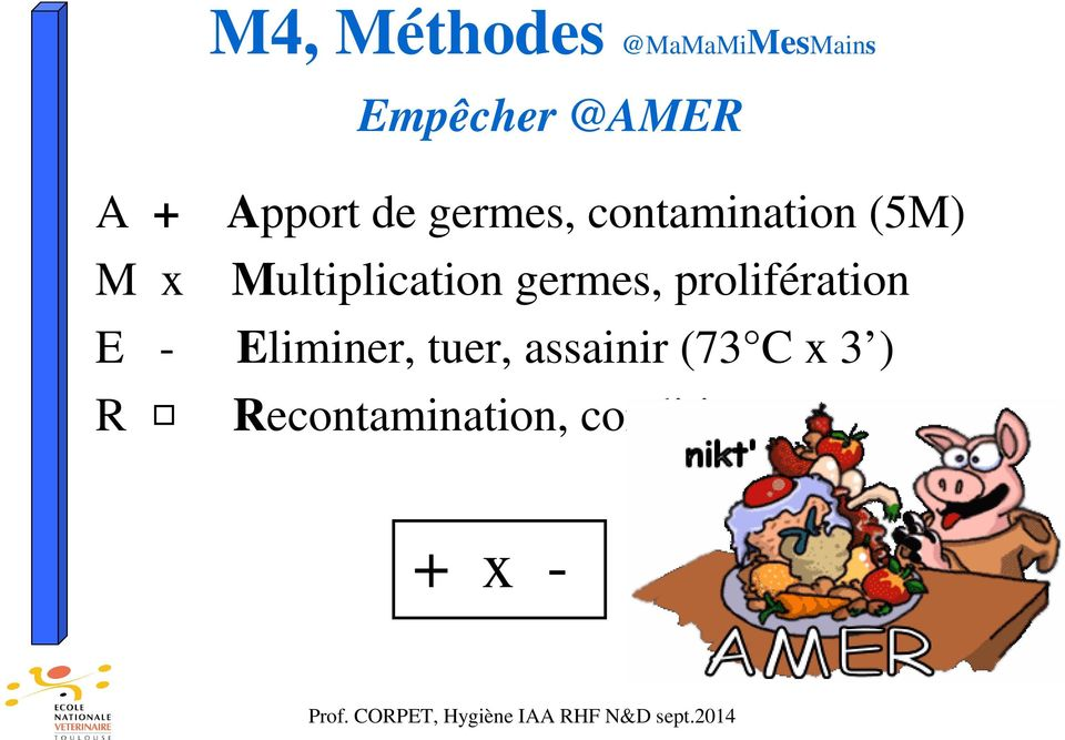 Multiplication germes, prolifération E - Eliminer,